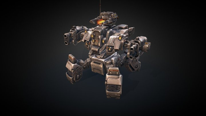 Mech Constructor: Heavy Spider (Animated) 3D Model