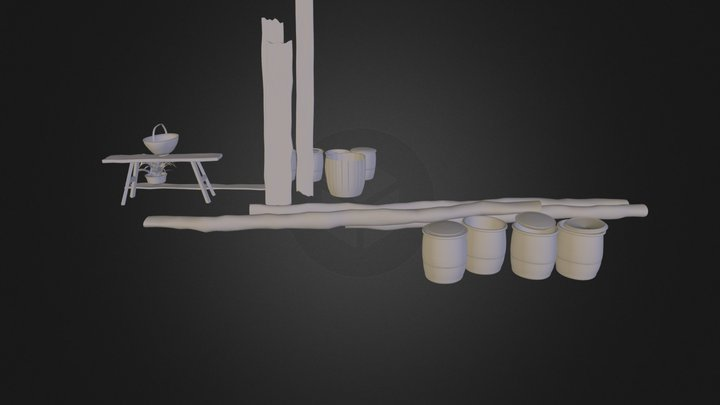 Middle-age outdoor objects 3D Model