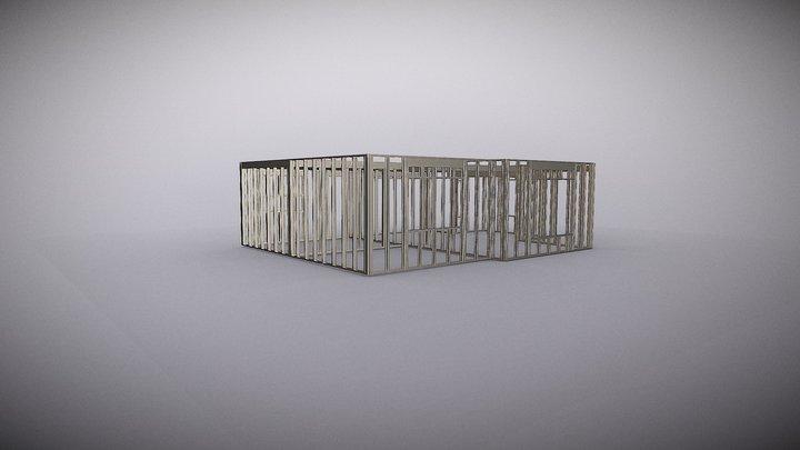 Steel Framing - House MO504 3D Model