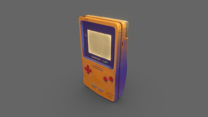 Hand Painting Challenge: GameBoy 3D Model