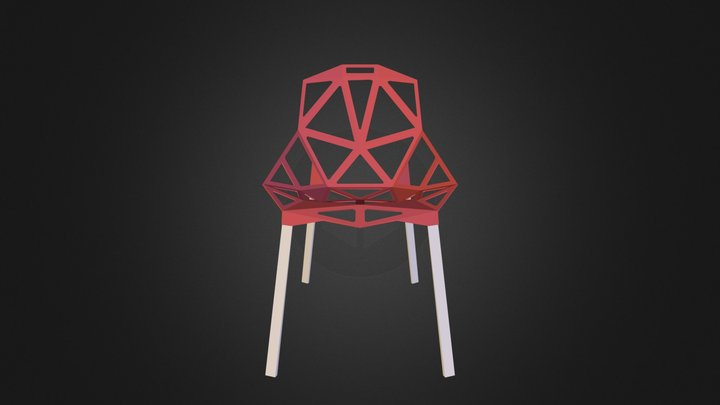 Chair_One Stacking Base 3D Model