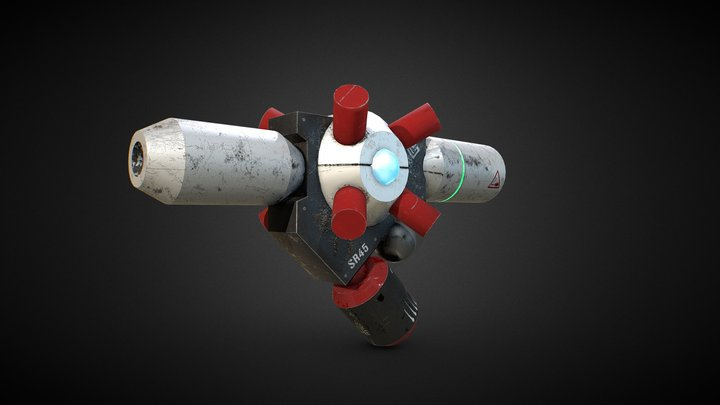 Plasma Gun 3D Model