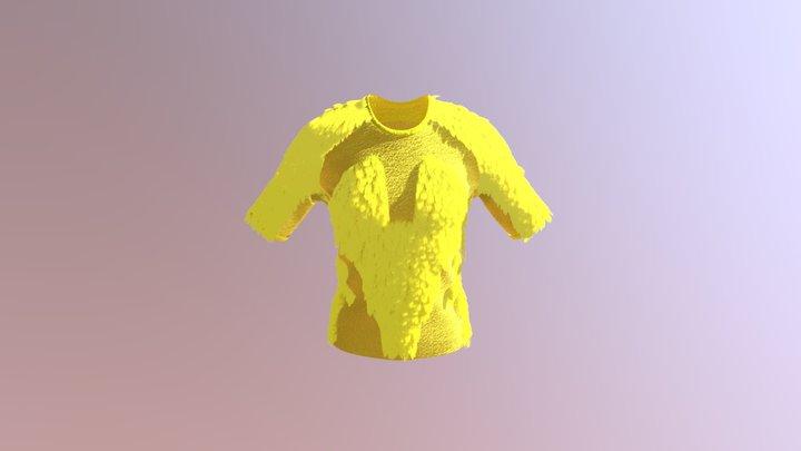 BRIA: Yellow Furry T 3D Model