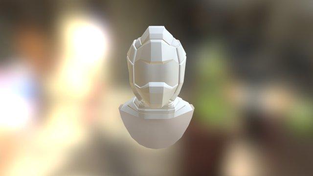 Generic Guy Helmet and Neck Piece 3D Model