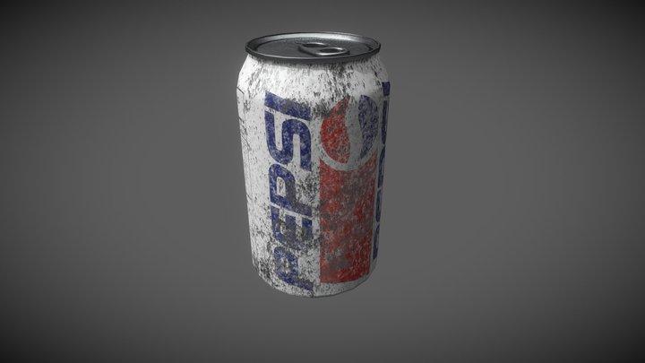 Retro Pepsi Can 3D Model