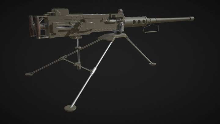 Browning M2 .50 machine gun 3D Model