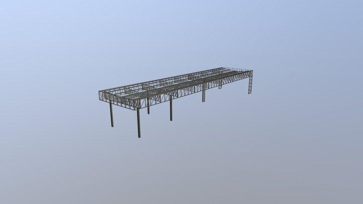 Estrutura Metálica - Pórtico de acesso 3D Model