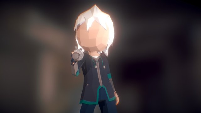 Low Poly Character: Zach Salven 3D Model