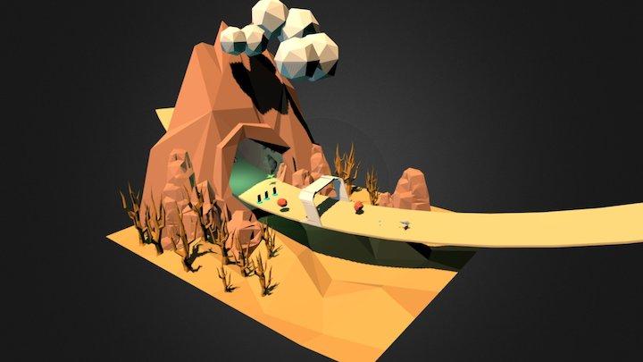 Redshift diorama 3D Model