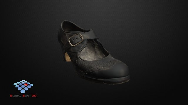 Zapato de Flamenco usado/Worn out Flamenco Shoe 3D Model