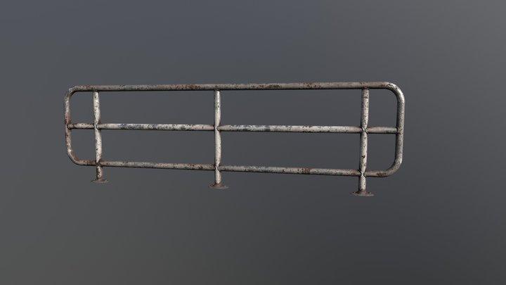 Rusty Railing 3D Model