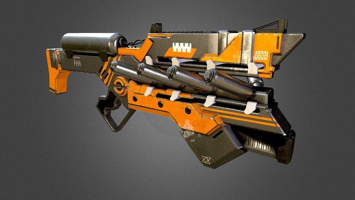 Cyborg Weapon 3D Model