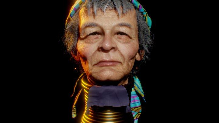 Kayan Tribe Woman 3D Model