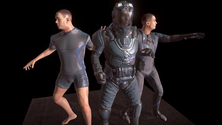 Space Colony Zeta 3D Model