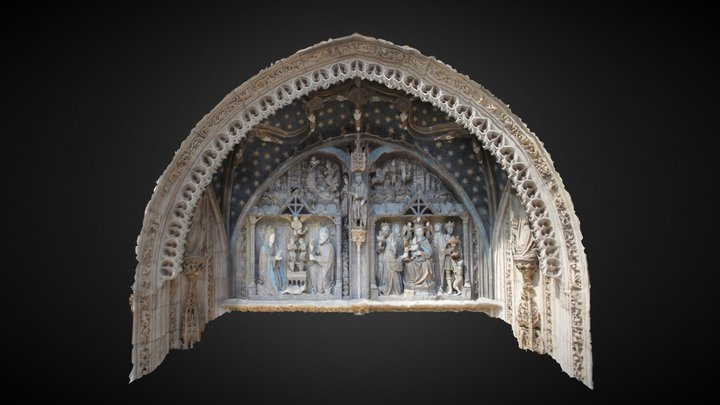 Santa Maria la Real portico - photogrammetry 3D Model