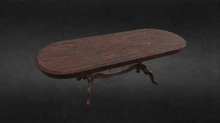 Classic Table (old & worn) 3D Model