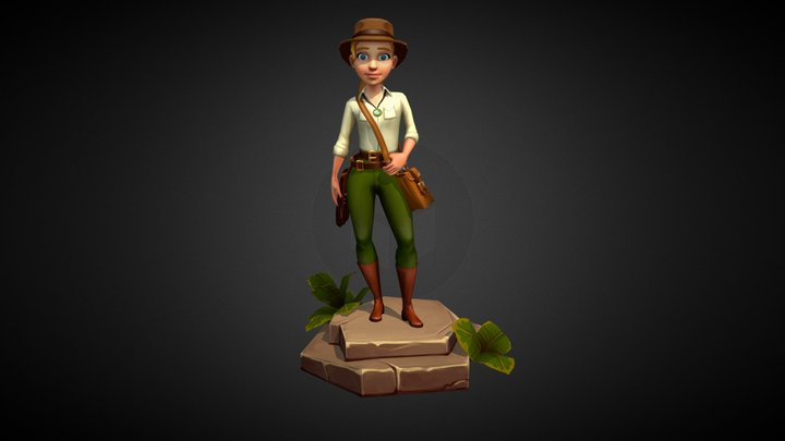Indiana Jane - Stylized Character 3D Model