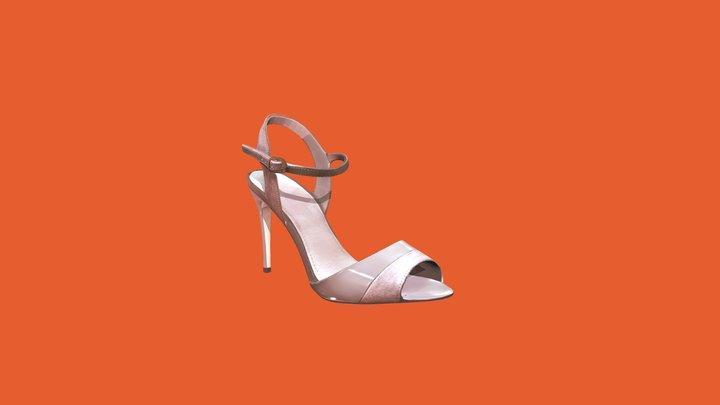 Scanned Biege Shoe 3D Model