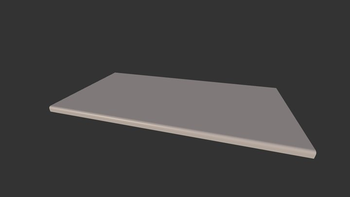 Round Marble countertop 3D Model