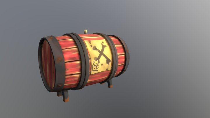 Gunpowder Barrel (Sea Of Thieves Fan Art) 3D Model