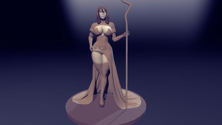Character female 3D Model