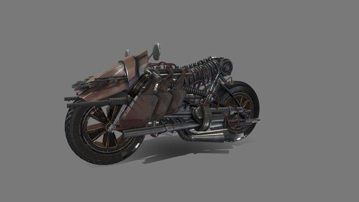 Postapo Motorcycle low 3D Model