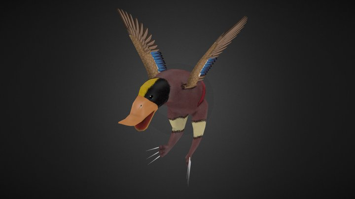 Wolverine Duck 3D Model