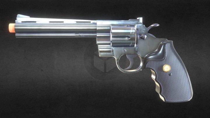 Revolver Magnum .357 3D Model