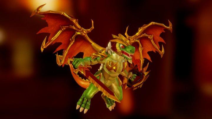 Predausaur Green Dragon 01 3D Model
