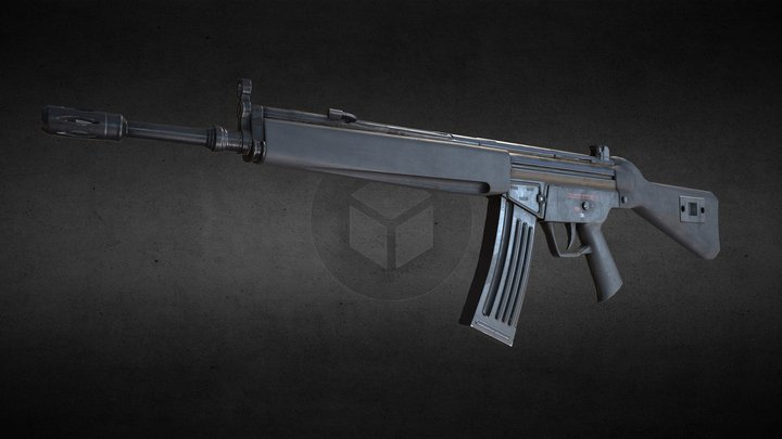 Heckler & Koch HK33 3D Model