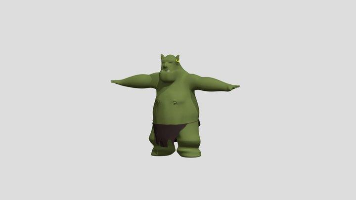 Basic Troll 3D Model
