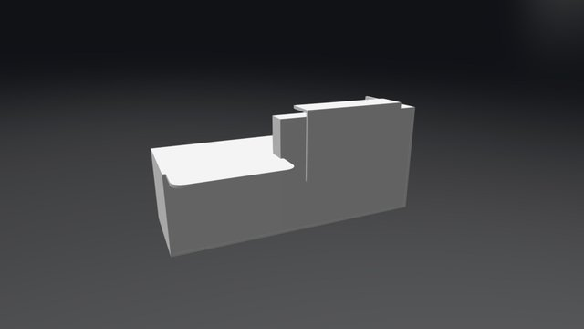 TRA38P Reception Desk 3D Model