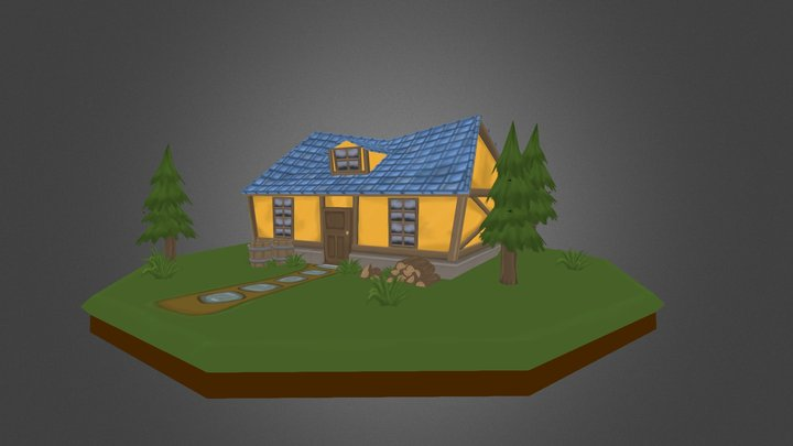 Painted Cabin 3D Model