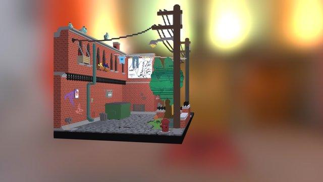 Alley 2 3D Model