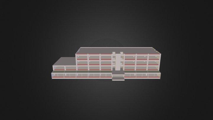 専門棟Ⅱ-1' 3D Model