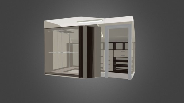 Walk In Wardrobe (MK) 3D Model