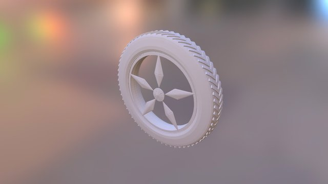 Wheel with Modifiers 3D Model
