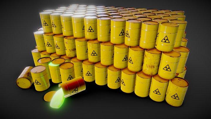 Radioactive Trash Barrel - GameReady (Unity/Ue4) 3D Model