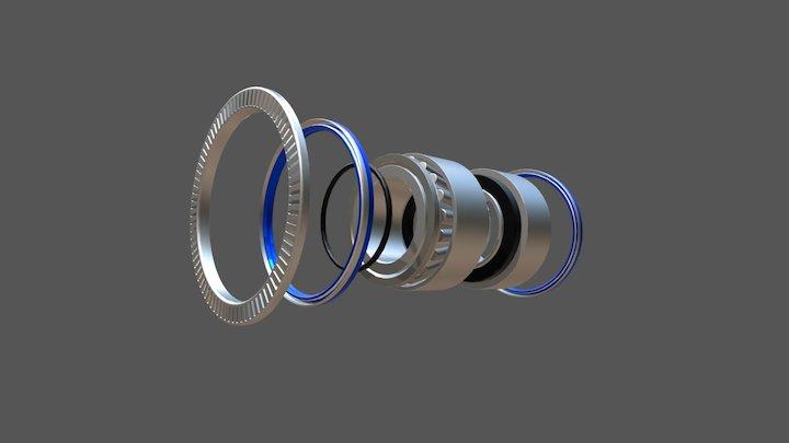 Ремкомплект ступицы SAF 3434301900 3D Model
