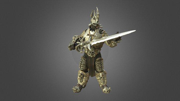 "Scanned ""Lich King"" Figure (World of Warcraft) 3D Model"