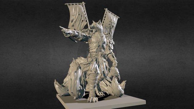 ODA, kitsune shogun 3D Model