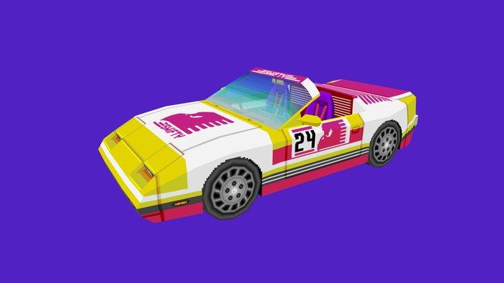 Low-Poly Racer 3D Model