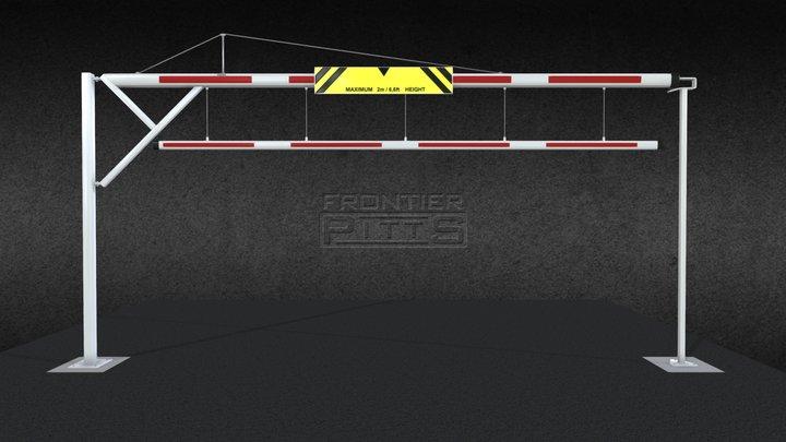 Frontier Pitts Swing Arm Barrier (Wagonstopper) 3D Model