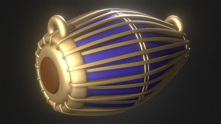 Khol Mridanga 3D Model