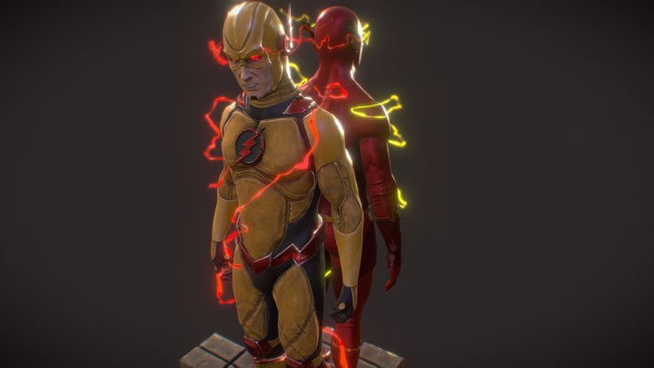 The Flash and Professor Zooom 3D Model