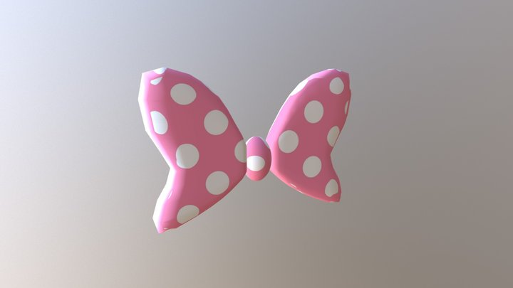 Minnie Mouse Bow Tie 3D Model