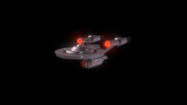 Venture Class Starship (smoothed) 3D Model