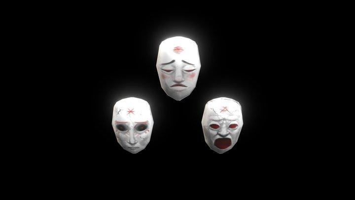 Scary Masks 3D Model