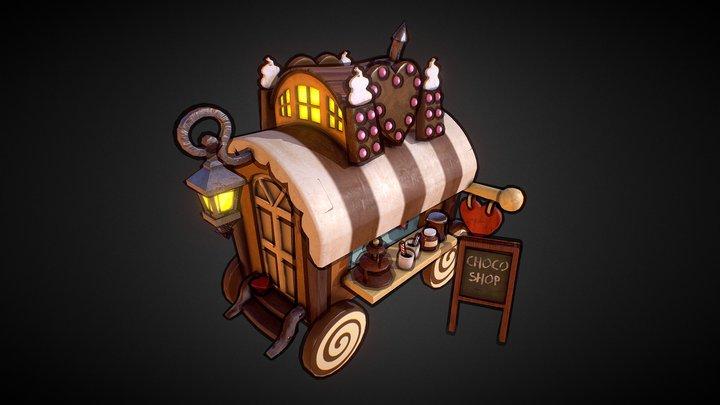 Chocolate Cart 3D Model