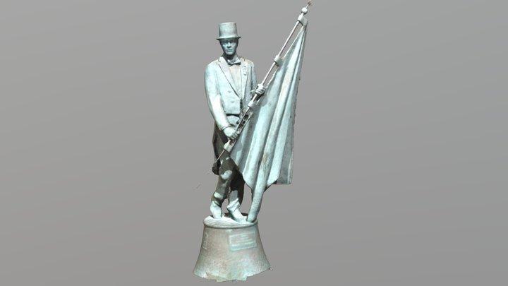 Escultura del Caballero Cubierto 3D 3D Model